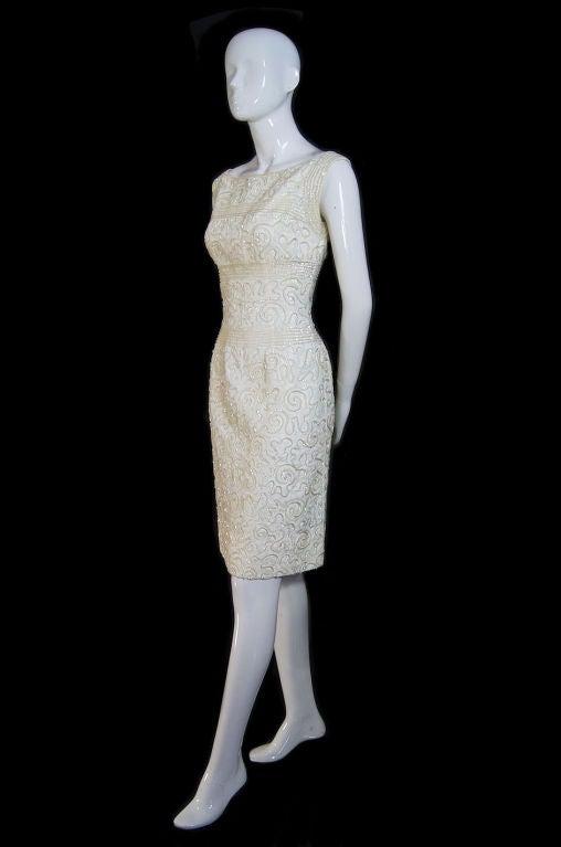 1950s Sequin Cream Alix Of Miami Dress 2