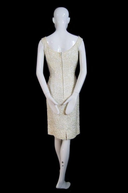 1950s Sequin Cream Alix Of Miami Dress 3