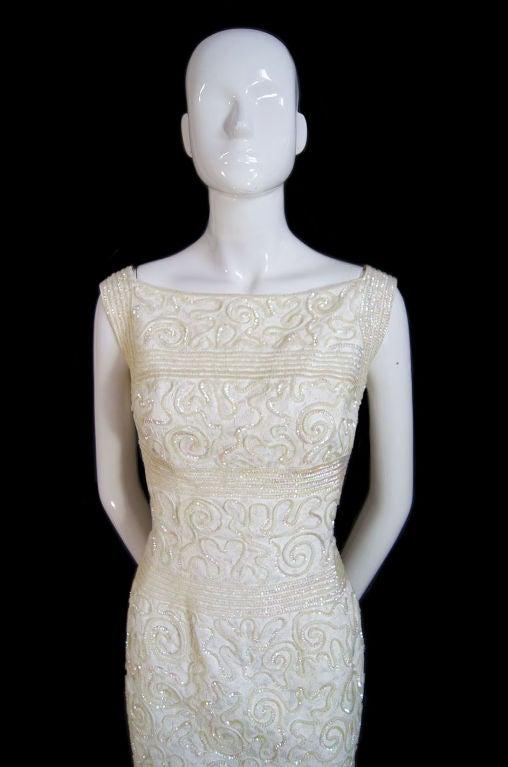 1950s Sequin Cream Alix Of Miami Dress 4