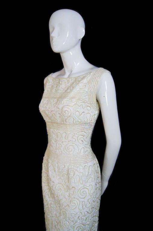1950s Sequin Cream Alix Of Miami Dress 5
