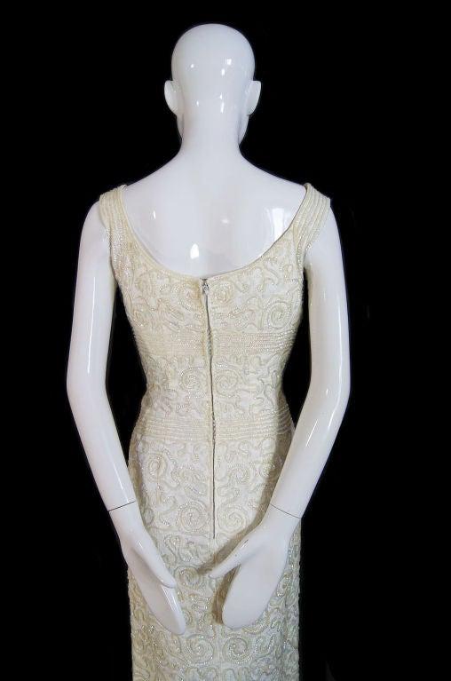 1950s Sequin Cream Alix Of Miami Dress 6