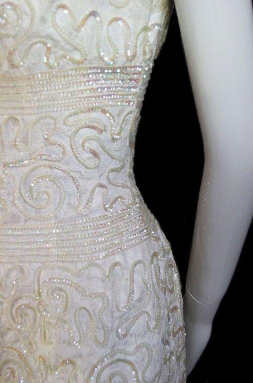 1950s Sequin Cream Alix Of Miami Dress 7