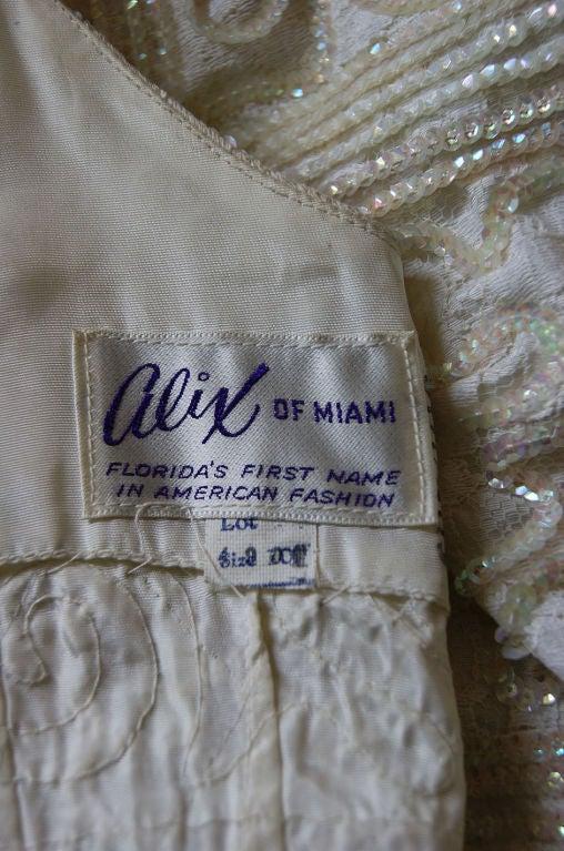 1950s Sequin Cream Alix Of Miami Dress 8