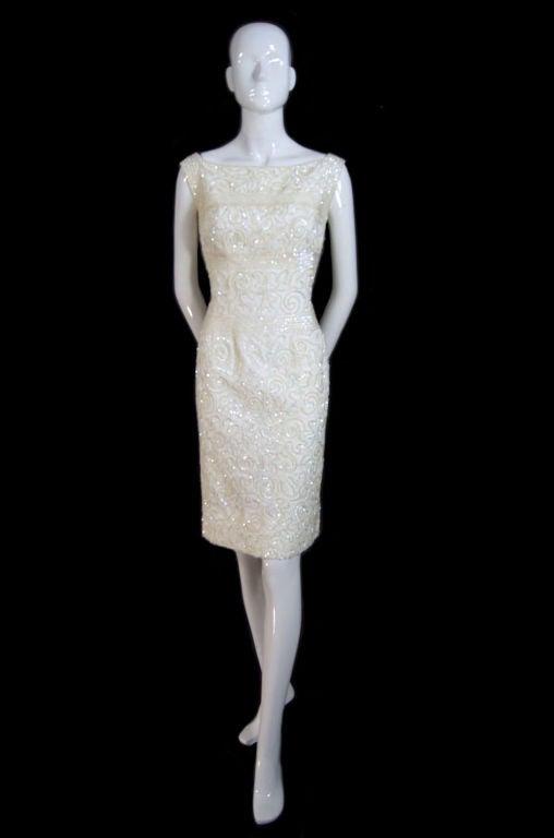 1950s Sequin Cream Alix Of Miami Dress 9