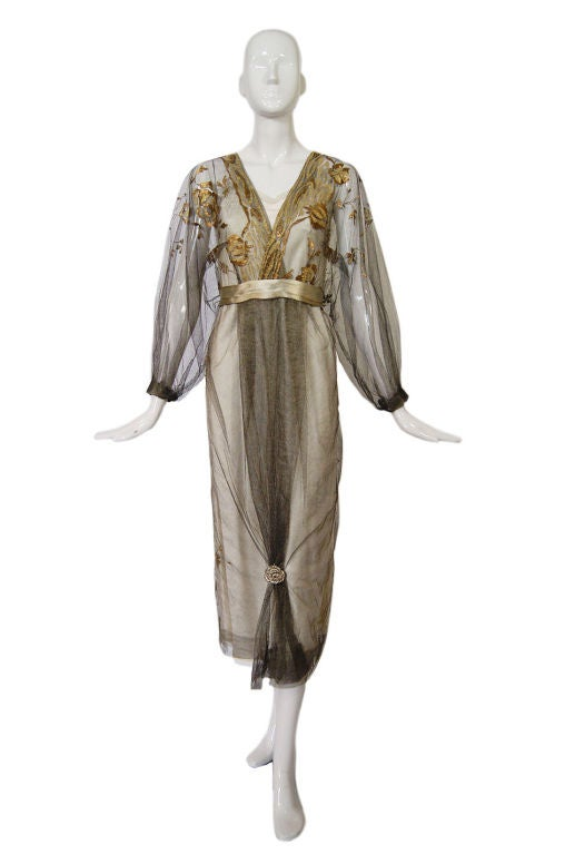 1890-Early 1900s Belle Epoque Tulle Lame 3