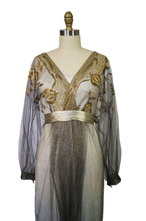 1890-Early 1900s Belle Epoque Tulle Lame 5