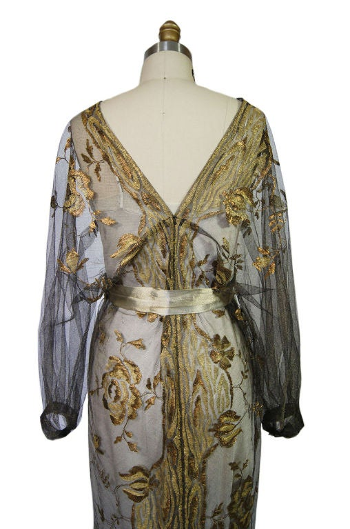 1890-Early 1900s Belle Epoque Tulle Lame 7