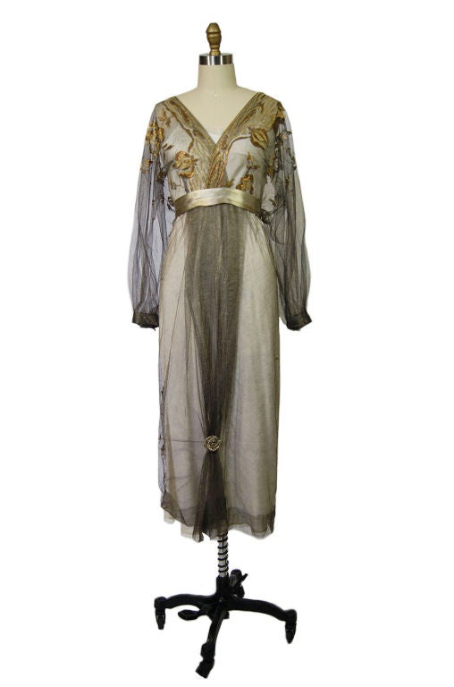 1890-Early 1900s Belle Epoque Tulle Lame 8