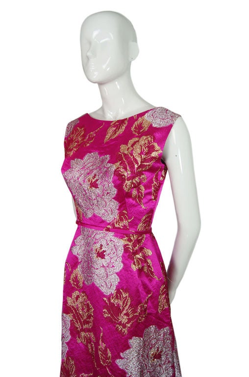 1960s Pink Silk Brocade Malcolm Starr For Sale 1