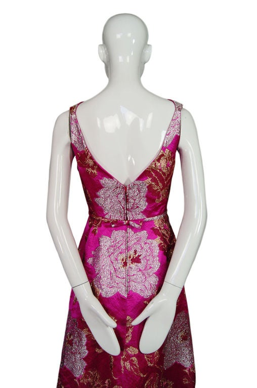 1960s Pink Silk Brocade Malcolm Starr For Sale 2