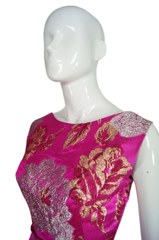 1960s Pink Silk Brocade Malcolm Starr For Sale 3
