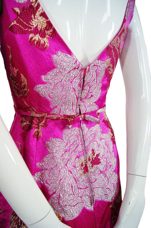1960s Pink Silk Brocade Malcolm Starr For Sale 4