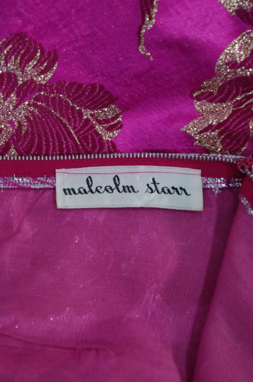 1960s Pink Silk Brocade Malcolm Starr For Sale 5