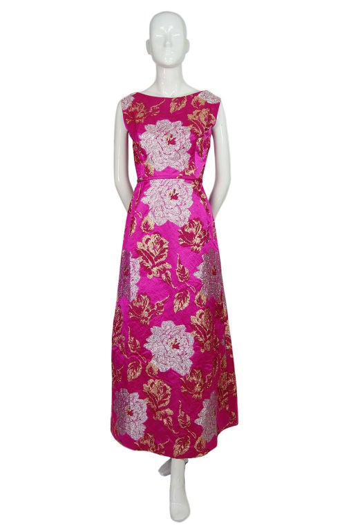 1960s Pink Silk Brocade Malcolm Starr For Sale 6