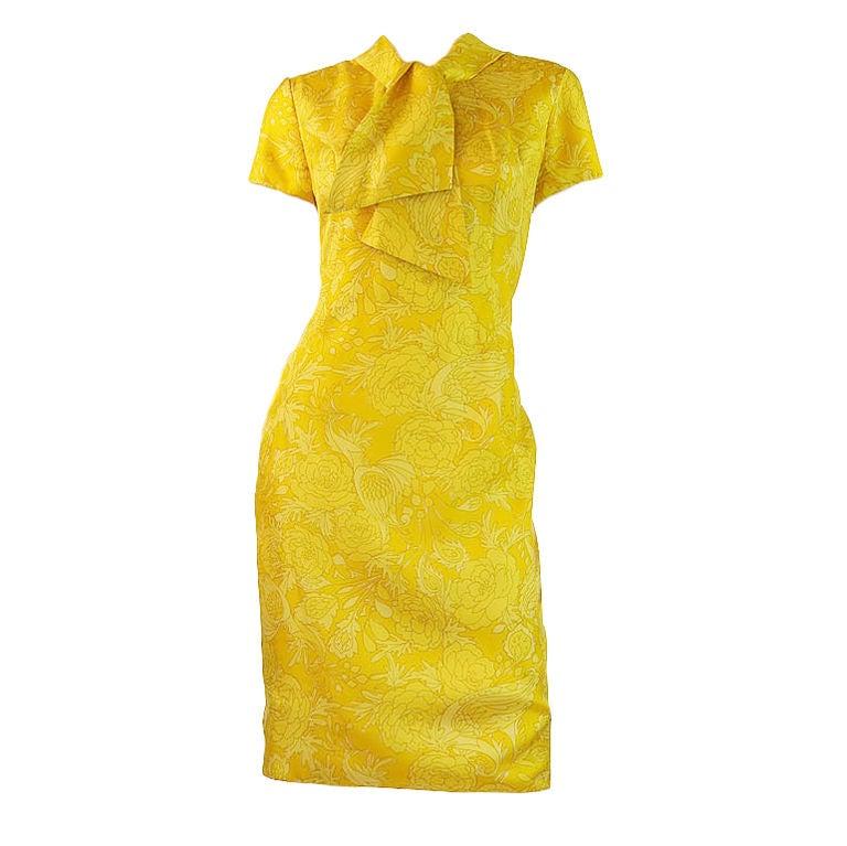 1960s Pretty Silk Mr Blackwell Shift Dress 1
