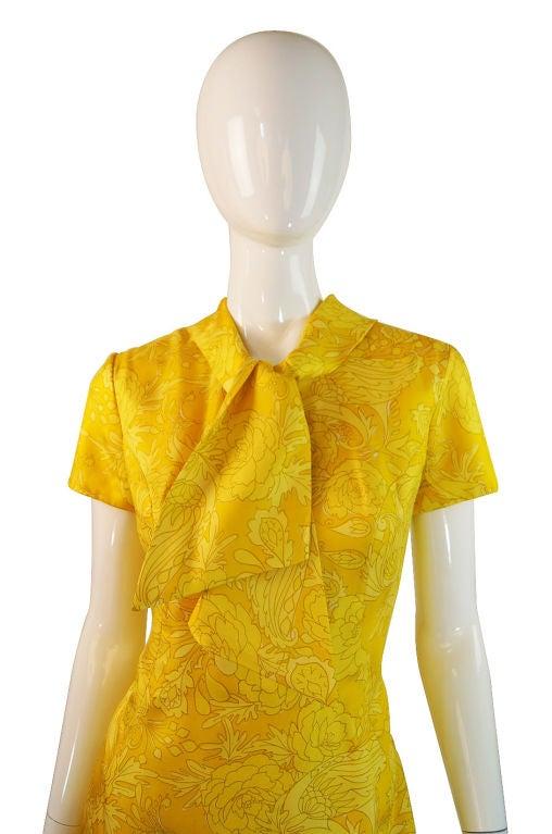 1960s Pretty Silk Mr Blackwell Shift Dress 2