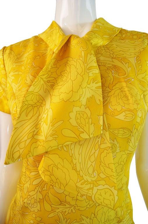 1960s Pretty Silk Mr Blackwell Shift Dress 3