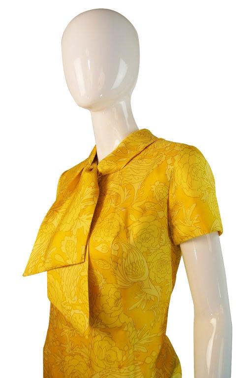 1960s Pretty Silk Mr Blackwell Shift Dress 4