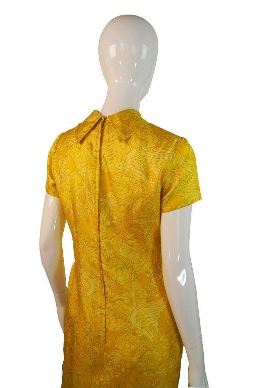 1960s Pretty Silk Mr Blackwell Shift Dress 5