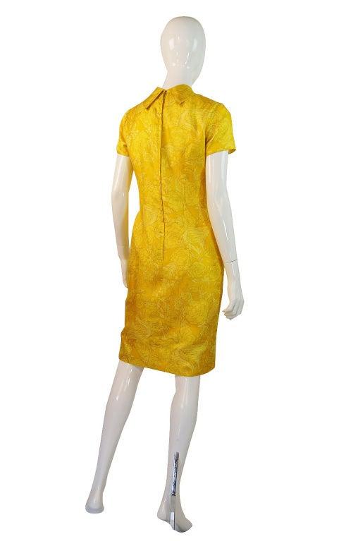 1960s Pretty Silk Mr Blackwell Shift Dress 6