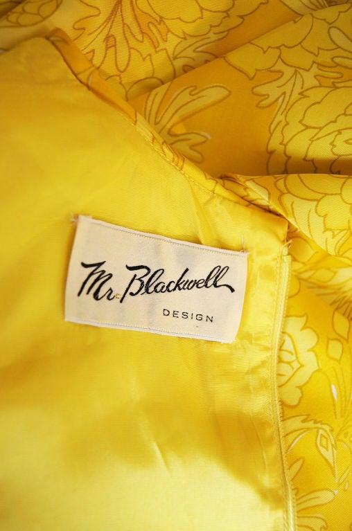 1960s Pretty Silk Mr Blackwell Shift Dress 7