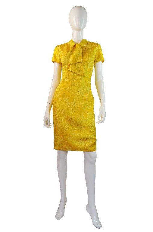 1960s Pretty Silk Mr Blackwell Shift Dress 8