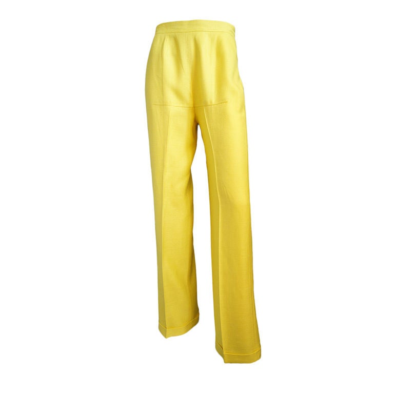 1970s Immaculate Courreges Yellow Pant 1