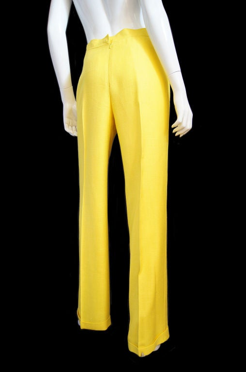 1970s Immaculate Courreges Yellow Pant 2