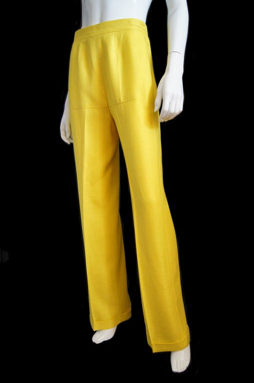 1970s Immaculate Courreges Yellow Pant 3