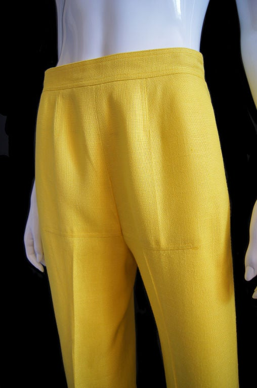 1970s Immaculate Courreges Yellow Pant 4