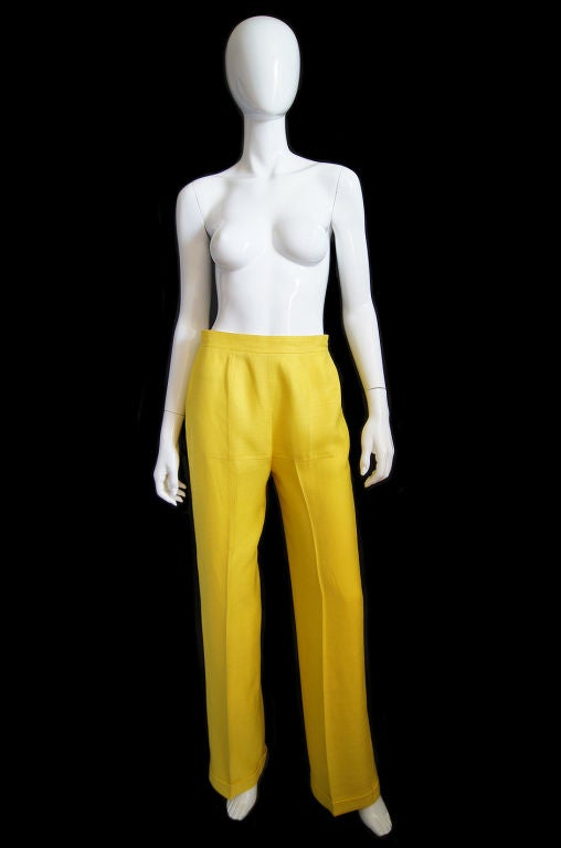 1970s Immaculate Courreges Yellow Pant 5