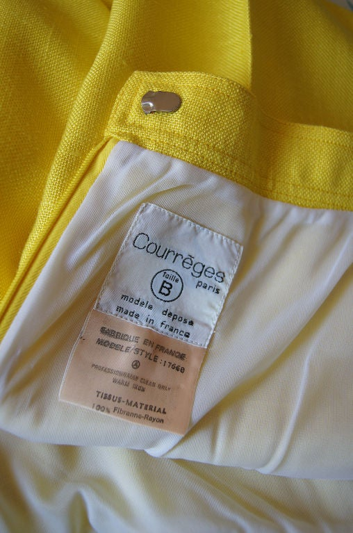 1970s Immaculate Courreges Yellow Pant 6