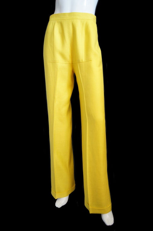 1970s Immaculate Courreges Yellow Pant 7