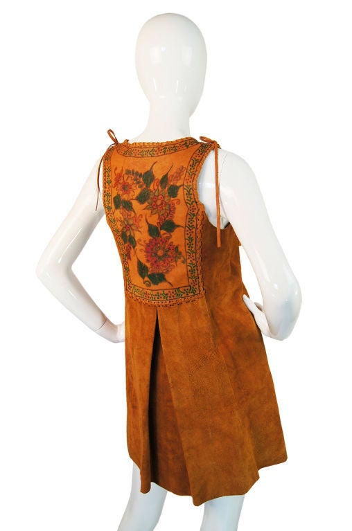 1970s Hand Painted Corset Char Vest For Sale 1