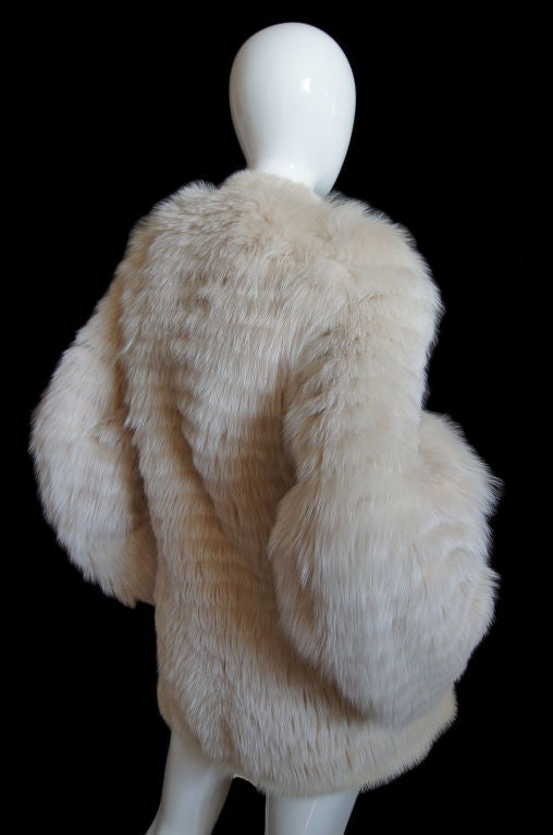 1970s YSL Feathered Fox Fur Jacket 4
