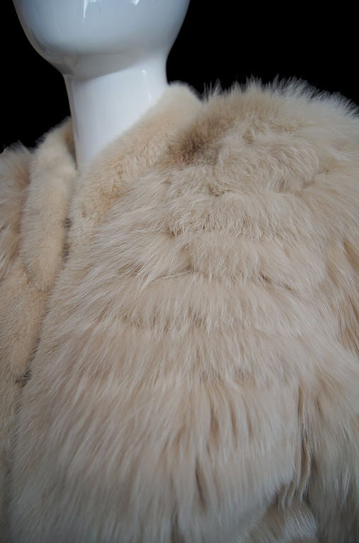 1970s YSL Feathered Fox Fur Jacket For Sale 4
