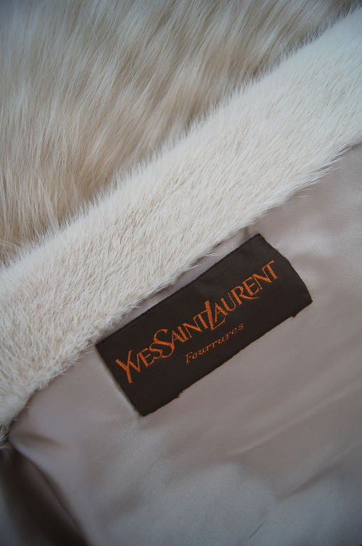 1970s YSL Feathered Fox Fur Jacket For Sale 5
