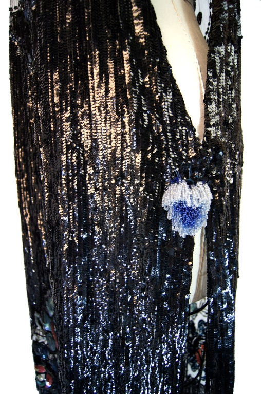 1920s Silk Net Sequin Flapper Over Dress image 10