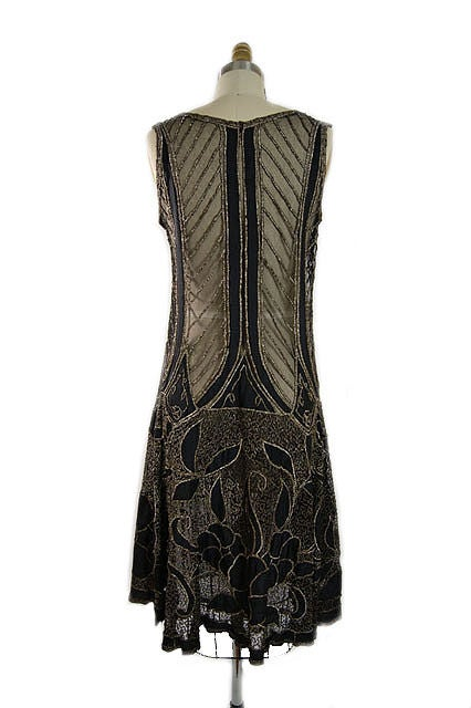 1920s Metallic Thread on Silk Flapper Dress image 7
