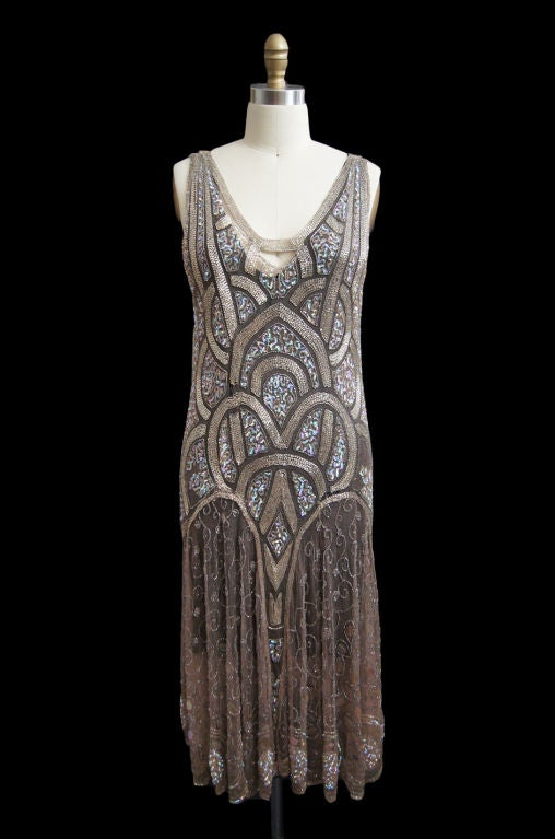 1920s Bead & Sequin Rose Gold Flapper image 2