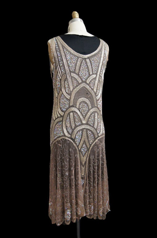 1920s Bead & Sequin Rose Gold Flapper image 4