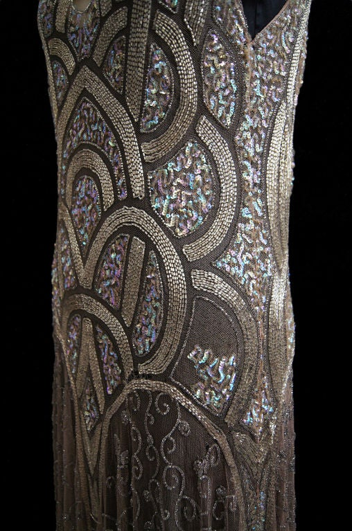 1920s Bead & Sequin Rose Gold Flapper image 7