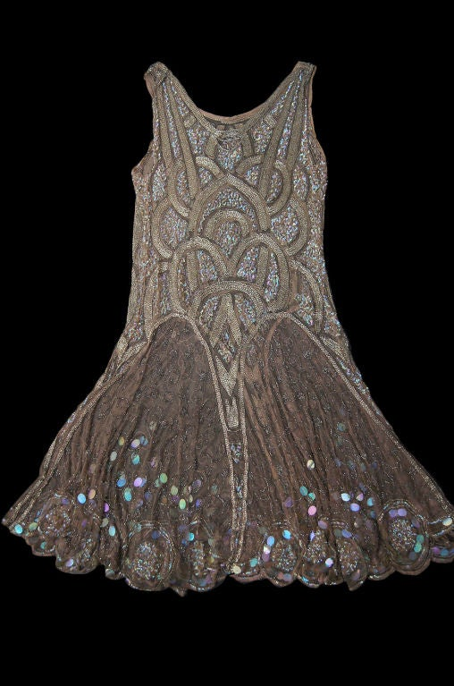 1920s Bead & Sequin Rose Gold Flapper image 8