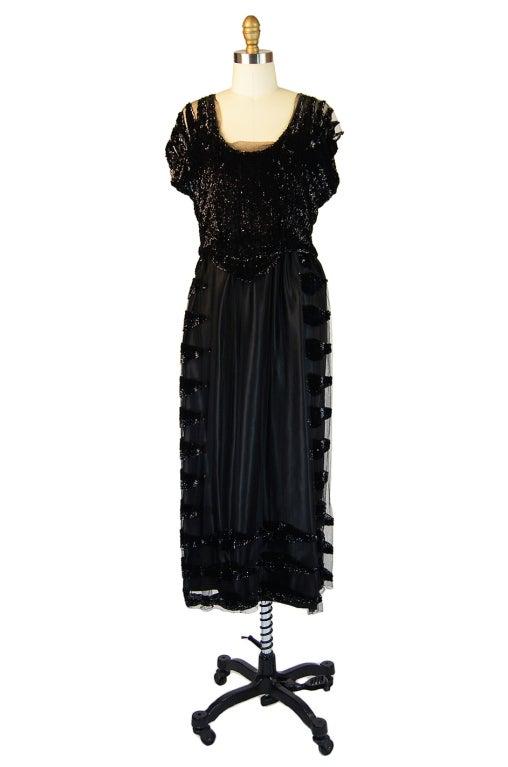 Edwardian Sequin & Silk Couture Dress 2