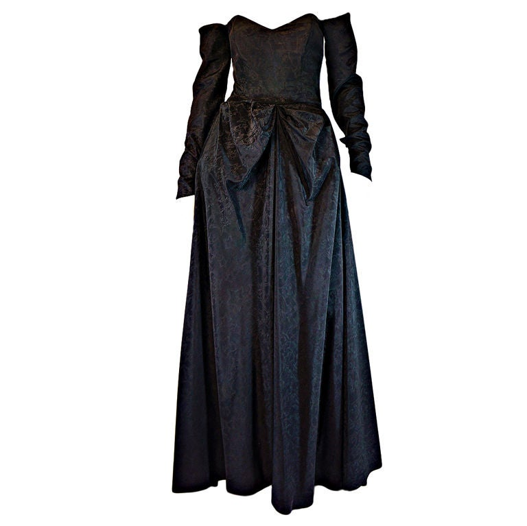 1950s Early Ceil Chapman Bustle Gown 1