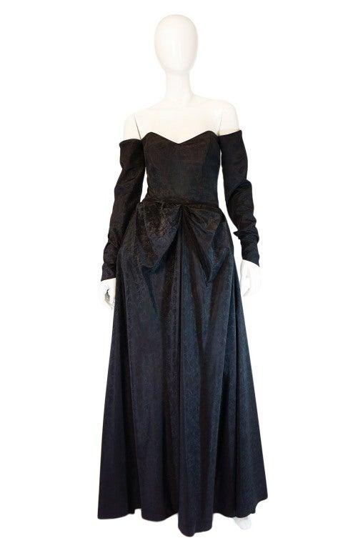 1950s Early Ceil Chapman Bustle Gown 2