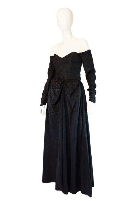 1950s Early Ceil Chapman Bustle Gown 3