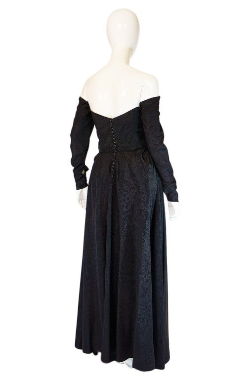 1950s Early Ceil Chapman Bustle Gown 4