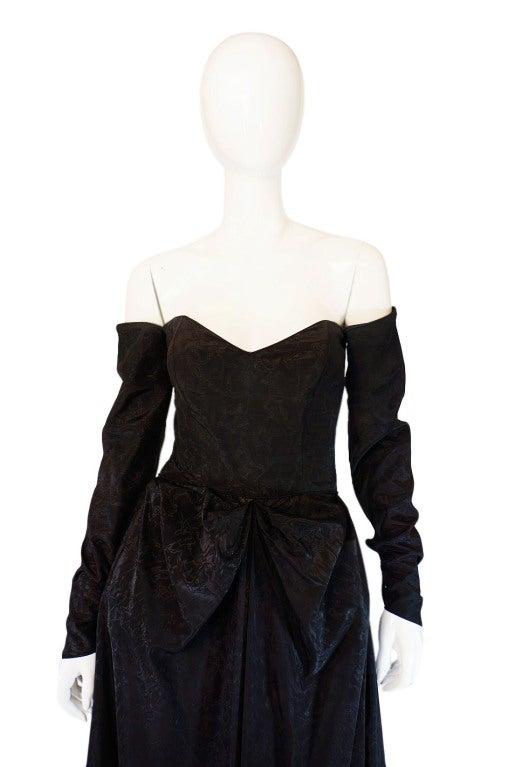 1950s Early Ceil Chapman Bustle Gown 5