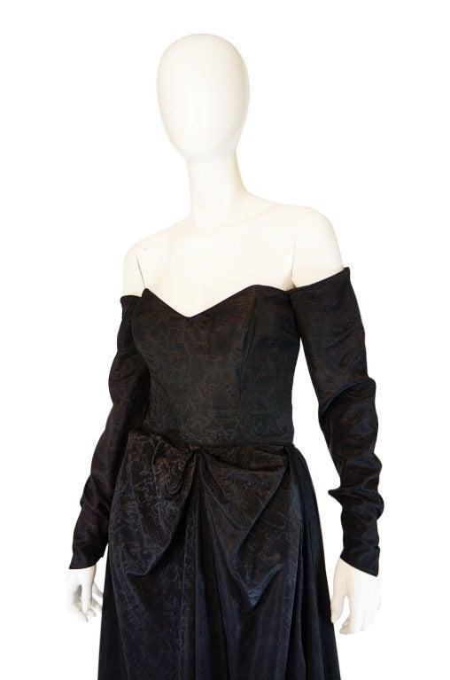 1950s Early Ceil Chapman Bustle Gown 6